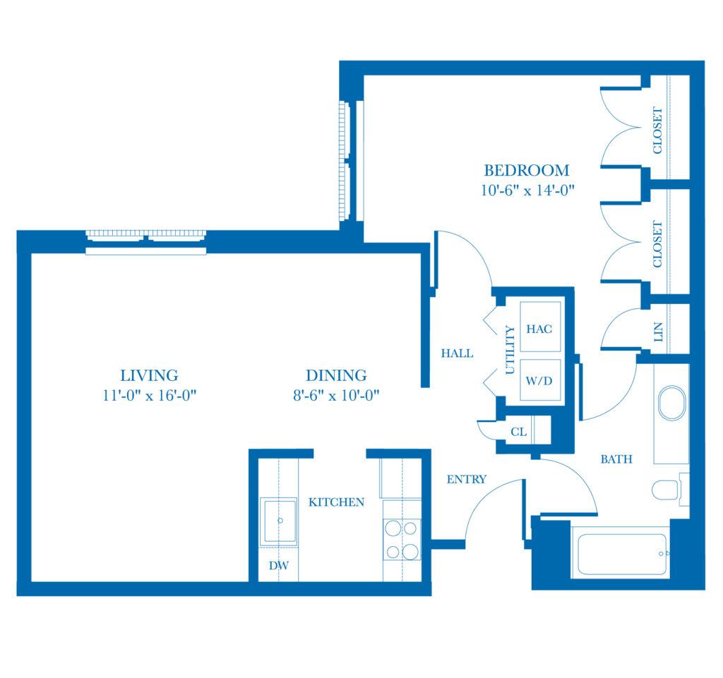 Well-Spring Community Birch Apartment Floor Plan